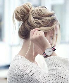 Casual Messy Updo Hairstyles Ideas 2018
