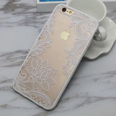 Fashion Sexy Lace Datura Flower Case For iphone6 Case For iphone 6S 6 Plus Beautiful Mandala Floral Phone Cases Cover Coque Capa