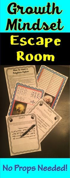 The Growth Mindset Escape Room Activity will take students on a secret mission around the classroom! This escape room has students decode inspiring quotes from famous figures about growth mindset. Students will learn facts and quotes from Einstein, Edison, King and Disney. INSPIRE YOUR STUDENTS!!
