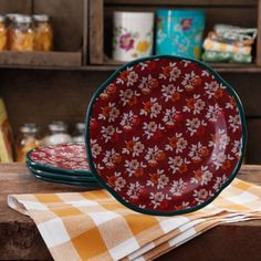 The Pioneer Woman Fall Flowers Salad Plate Set, 4-Pack