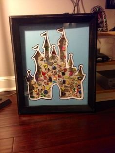 Items similar to Walt Disney World Castle Disney Trading Pins Shadow Box, Matted on Etsy Disney Nerd, Disney Diy, Disney Crafts, Disney Dream, Disney Magic, Disney World Castle, Walt Disney World, Disney Castles, Disney Souvenirs