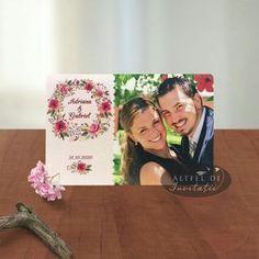 Invitatia de nunta Amintiri dulci este personalizata cu fotografia mirilor Frame, Frames, Hoop