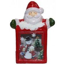 Χριστουγεννιάτικο Διακοσμητικό Κεραμικό, Άγιος Βασίλης με Φως
