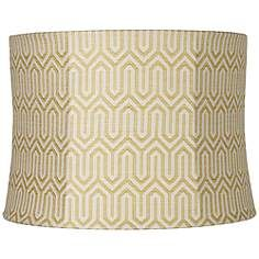 Mustard yellow ikat drum lamp shade 13x14x10 spider abby find clearance lamp shades now overstock pricing up to off at lamps plus backed by our no hassle return policy view all discount lamp shades mozeypictures Choice Image
