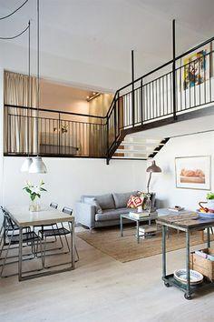 1000 images about escaleras on pinterest puertas tags - Decoracion loft pequeno ...