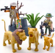 Playmobil-SAFARI-LIONS-Oambati-Station-Figures-African-Zoo-Baby-Animal-Family