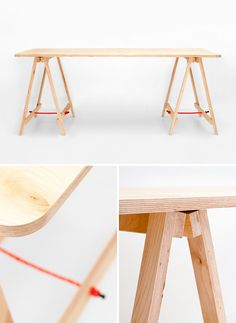 Perfect desk. Tressel Table Co. plywood trestle, handcrafted in Melbourne