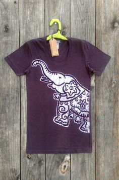 Elephant bio organic cotton batik tops & tees Eco friendly