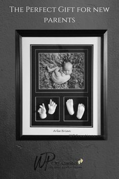 The black and white combination of this shadowbox is stunning, as is the layout. Colour options available. A beautiful way to display your loved ones lifecasts. A keepsake for the family and a gift to your loved ones. Gifts For New Parents, Gifts For Dad, Newborn Gifts, Baby Gifts, Mother Gifts, Mothers, Baby Cast, First Time Dad, Baby Hands