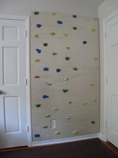 Rock climbing wall in for the little prince