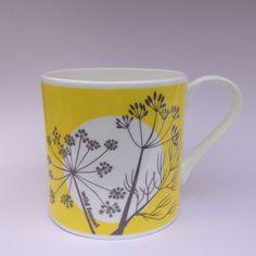 Hedgerow Highlights Fine bone china mug - Wild Fennel