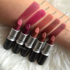 Swatches: M•A•C Captive, Rebel, Taupe, Paramount & Del Rio