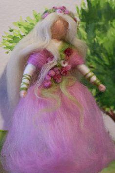 wool fairy, Fee aus Märchenwolle, fairy, felt, wool, craft