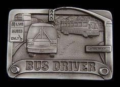 BUS DRIVER BELT BUCKLE DETAILED BUCKLES UNUSUAL!  | eBay