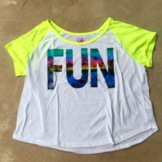 FUN Neon Summer Graphic Tee Size: L Seller Notes: Not f21, brand new never worn!   NO TRADES Forever 21 Tops Tees - Short Sleeve
