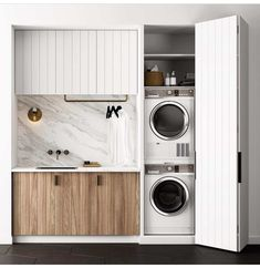8 Tips for a Nordic Laundry - Post: 8 Tips for a Nordic laundry -> laundry decoration, laundry room, Interior decoration, Interio - Laundry Cupboard, Laundry Closet, Laundry Room Organization, Laundry In Bathroom, Laundry Cabinets, Laundry In Kitchen, Utility Cupboard, Laundry Chute, Garage Laundry