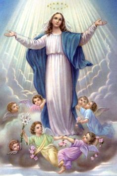 The Assumption of Mary Mary Jesus Mother, Jesus Mary And Joseph, Blessed Mother Mary, Divine Mother, Blessed Virgin Mary, Images Of Mother Mary, Catholic Pictures, Jesus Pictures, Religious Images