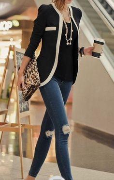 ATTN RACHEL/STITCH FIX STYLIST: I really want this 41 Hawthorn Nimes contrast blazer!!!!