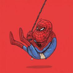 Et si les super-héros étaient vieux ? Par Alex Solis