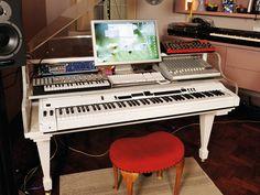 imogen heaps' home recording studio. SO LEGIT. i eventually want this