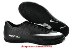 Nike Mercurial Victory IV ACC IC Indoor Soccer Shoes For Cheap Black White Soccer Cleats