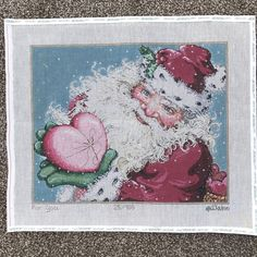 fe7faf85 For You Santa Claus Alain/Sandra Gilmore Hand Painted Needlepoint Canvas