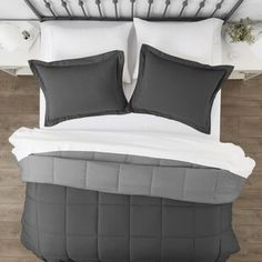 Comforters & Comforter Sets You'll Love in 2021 | Wayfair Country Bedding Sets, Grey Comforter Sets, Cool Comforters, Grey Home Decor, Beautiful Color Combinations, Guest Bedrooms, Master Suite, Master Bath, California King