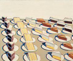 Pie Counter, 1963 - Art by Wayne Thiebaud.