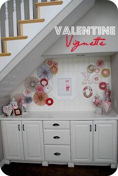Make a Valentine Vignette with Paper Rosettes!!