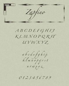 Zapfino typeface