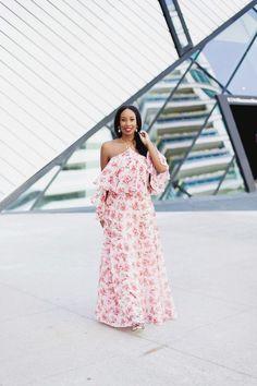Pretty in Pink Floral - TorontoShay #womensfashion #fashionista #streetstyle #fashionbloggers