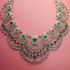 davidmorrisjewellerOur Colombian #emerald and white #diamond Empress necklace