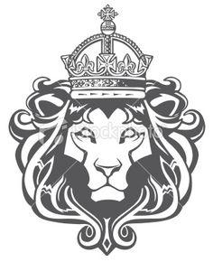 king lion tattoo - Google Search