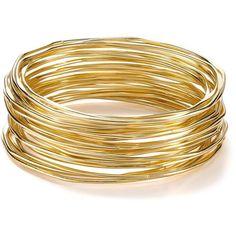 Rj Graziano Gold Stack Bangle Bracelets, Set Of 24 ($38) via Polyvore