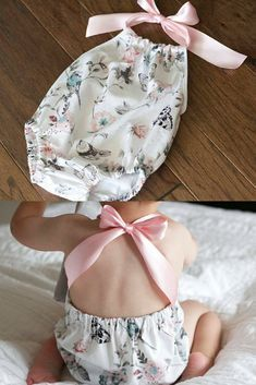 Oh my goodness! I need a baby girl to buy this for!! So so so precious! Baby Romper, Halter Sunsuit, Baby Girl Romper, Toddler Romper, Cake Smash Outfit, Floral Romper - Song Bird #affiliate #babygirloutfits