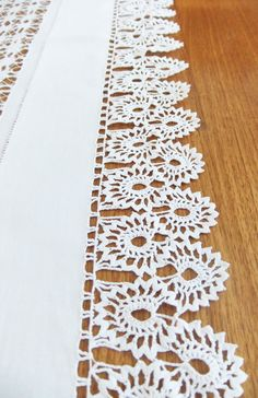 Vintage Crochet Tablecloth - white crocheted table cover - whitework - Tableware. £30.00, via Etsy.
