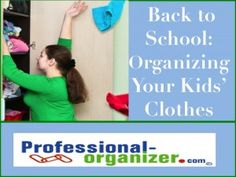Back to School: Organizing Your Kids Clothes