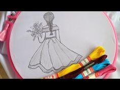 Amazing & Beautiful Hand Embroidery for Doll design Hand Embroidery Videos, Hand Embroidery Tutorial, Embroidery Flowers Pattern, Crochet Flower Patterns, Modern Embroidery, Embroidery For Beginners, Hand Embroidery Patterns, Ribbon Embroidery, Embroidery Stitches