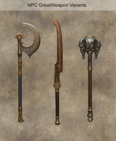 ArtStation - Tomb King Weapons, Sven Bybee