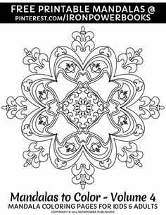 Enjoy coloring with your kids this Summer with this FREE Easy Mandala.  | Please use freely for personal non-commercial use | For more of these follow @ironpowerbooks with fairytale coloring pages too!