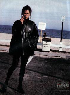 Vogue Italia Oct 1991 - Carre Otis by Pamela Hanson
