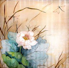 Платок с лотосом ---------  (кликните по изображению, чтобы открыть его в полный экран)