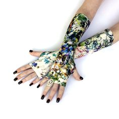 Summer Hill Fingerless gloves mittens arm warmers  by WearMeUp, $19.50