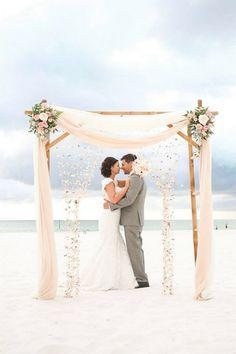 Glorious 100+ Great Ideas of Beach Wedding Arches https://bridalore.com/2017/05/23/100-great-ideas-of-beach-wedding-arches/