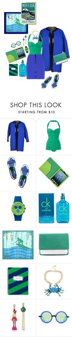 """""""Just Keep Surfing"""" by glamclutz ❤ liked on Polyvore featuring Mariuccia, Norma Kamali, Kenzo, Marc by Marc Jacobs, Calvin Klein, Green Leaf Art, Joseph, Ditch Plains, Betsey Johnson and Opening Ceremony"""