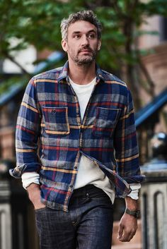 Wallace & Barnes Heavyweight $98 Made from extra-dense brushed cotton in big, impactful plaid patterns, these substantial flannels are in the same weight class as a between-seasons jacket.