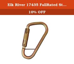 1-1//8 Gate Opening 1-1//8 Gate Opening Inc 3600 lbs Gate Elk River 17455 Fall Rated Aluminum Side Swing Carabiner with Auto Twist-Lock and Pin
