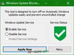 Windows Update Blocker 1.0  Windows Update Blocker--Windows Updatesが有効--オールフリーソフト