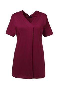 Women's+Plus+Size+Crossover+V-neck+Tunic+Top+from+Lands'+End