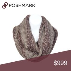 Multicolored infinity scarf Multicolored knit scarf. Colors are a dual tone brown. 100% acrylic. These are extremely soft and warm!  ⭐️This item is brand new with manufacturers tags or in original packaging. 🚫NO TRADES 💲Price is firm unless bundled 💰Ask about bundle discounts Accessories Scarves & Wraps